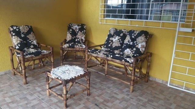Jogos completos cadeiras de bambu 1 linha  - Foto 3