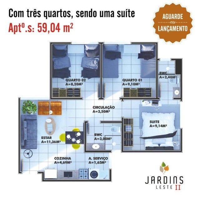 JB- Apartamento 3 Quartos - Condomínio Fechado - Foto 7
