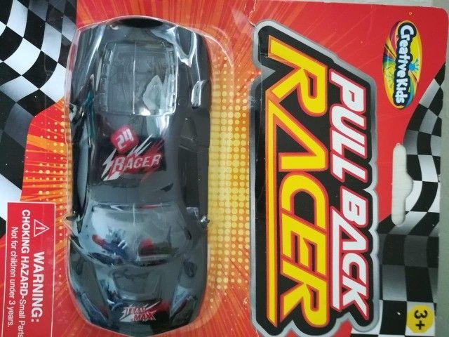 Carrinho De Brinquedo Novo Pull Back Racer Preto Fricção - Foto 4
