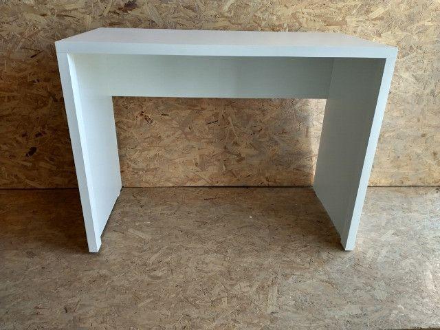 Mesa / escrivaninha/ escritório/ com engrossamento 3cm / novo MDF - Foto 2