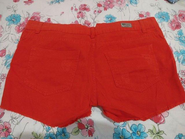 Short Jeans Laranja - Foto 2