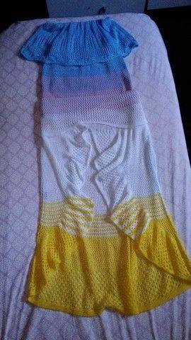 Vestido de crochê - Foto 3