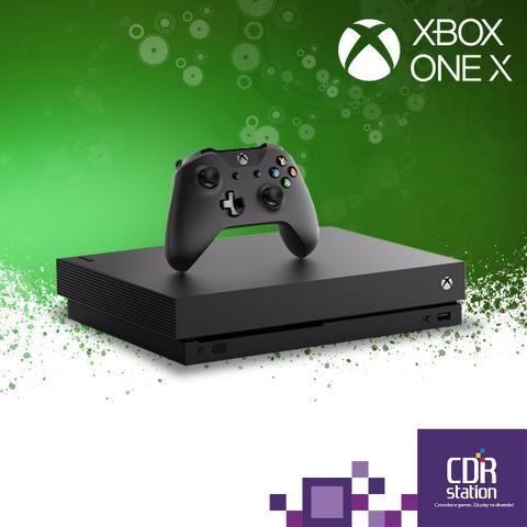 Xbox One X 1 TB Novo Preto Mega Saldão somente até 04/01 ou enquanto durar o estoque !
