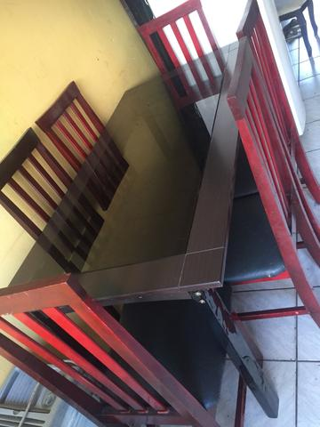 Vendo mesa de Vidro 6 cadeiras - Foto 2