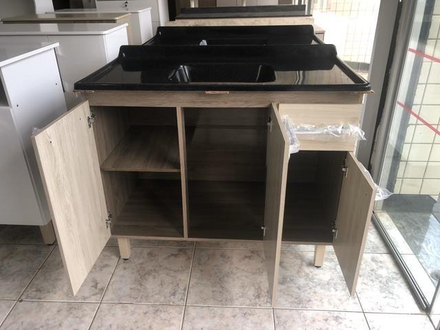 Pia de Cozinha 1metro com cuba - Entregamos - Foto 3