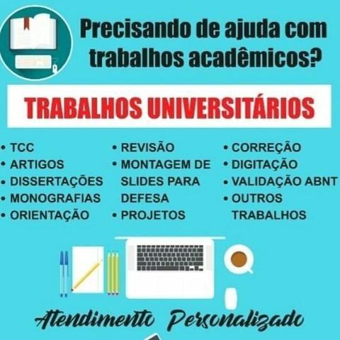 Ajudo e oriento confecção de trabalho acadêmico