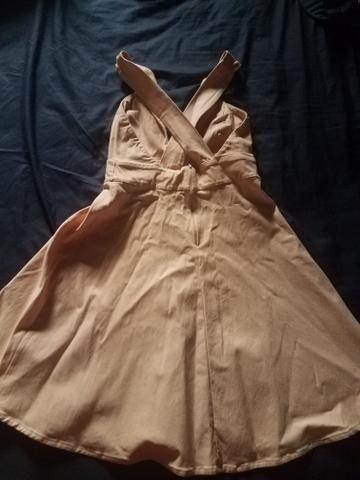 Vendo vestido salmao tamanho G marca Lorena Vieira - Foto 2