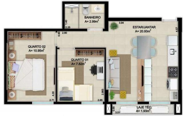 Lançamento apartamento 2 quartos guara II - Foto 7