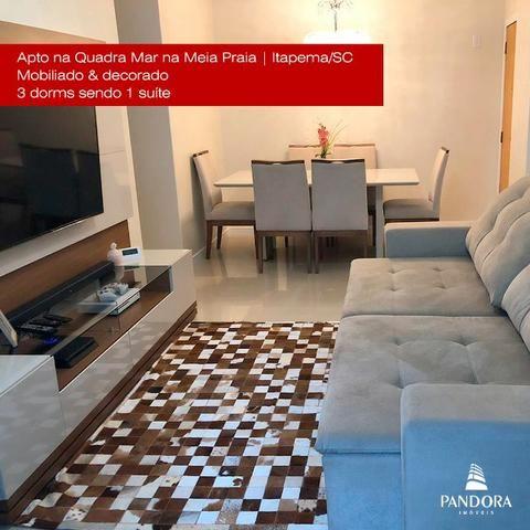 Mobiliado | Apto na Quadra Mar | Apartamento 3 dorms - Foto 2