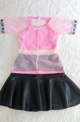 Conjunto saia e blusa Tam 10 novo - Foto 3