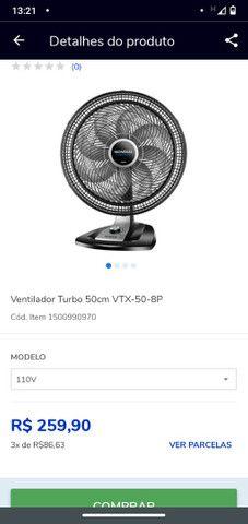 Ventilador MONDIAL vtx-50 8 Pás - Foto 4