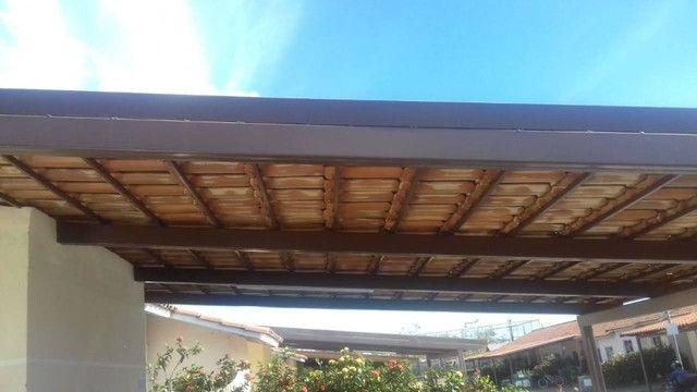 Cobertura metalica acabamento em policarbonato é telhas - Foto 3