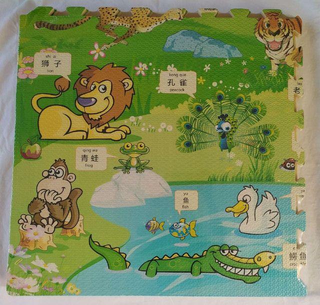 Tatame tapete infantil Estampado Eva medidas 60 x 60 - Foto 2