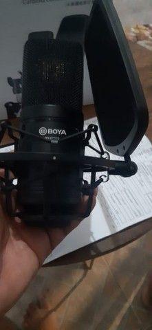 Microfone condensador Boya profissional - Foto 4