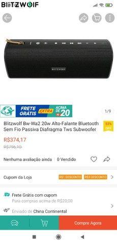 Caixa de som blitzwoif, 20 w resistência a água NFC