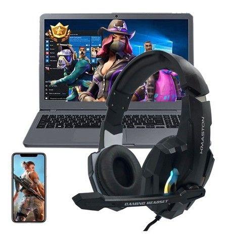 Headset Gamer Fone H'maston Freefire Ps4 Pc Notebook - Foto 4