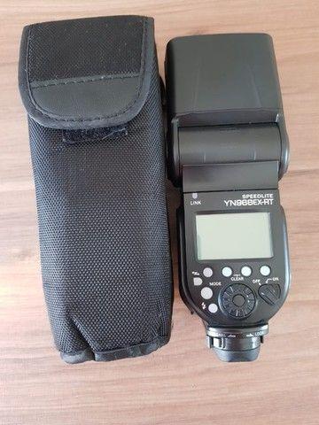 Câmera Canon 80D novíssima + lentes, bolsa e flash - Foto 4