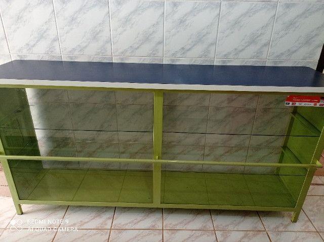 Balcão com partilera de vidro - Foto 2
