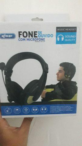 Fone e microfone de ouvido - Foto 2