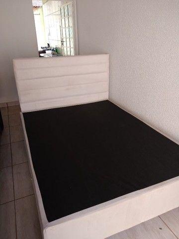 Base e cabeceira para cama box casal