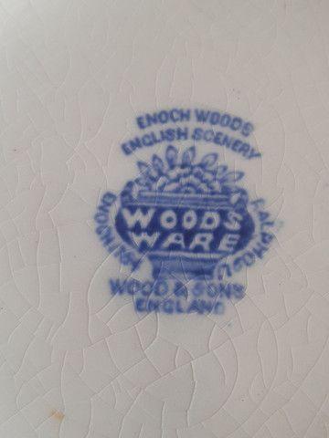 baixela antiga  inglesa wooods ware estilo fazendinha - Foto 6