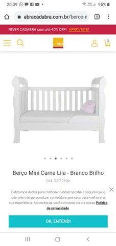 Berço e mini cama Abracadabra com colch?o - Foto 2