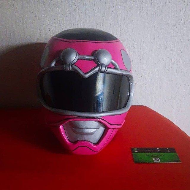 Capacete Power Ranger Turbo Rosa (Cosplay) - Foto 2