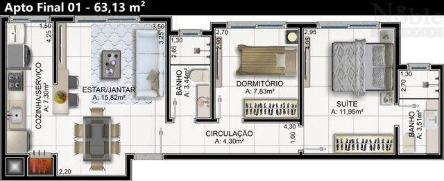 Apartamento de 02 dormitórios na Praia da Cal - Foto 6
