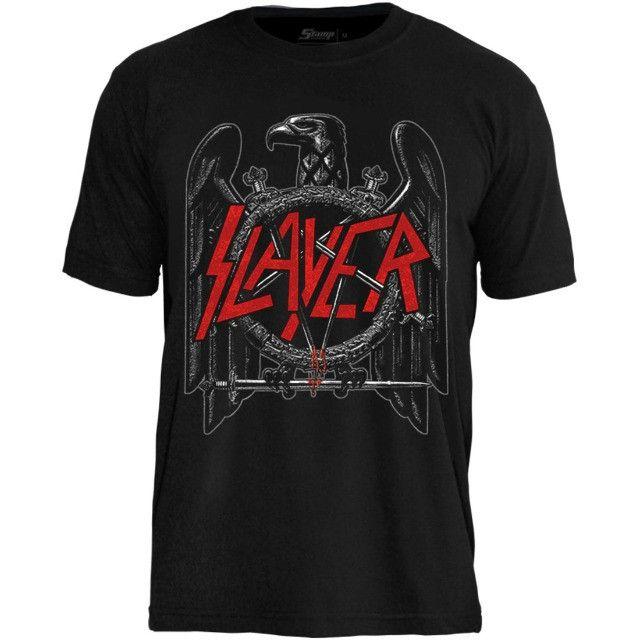 Camisas de bandas de rock - Slayer, AC/DC, Ramones e muito mais