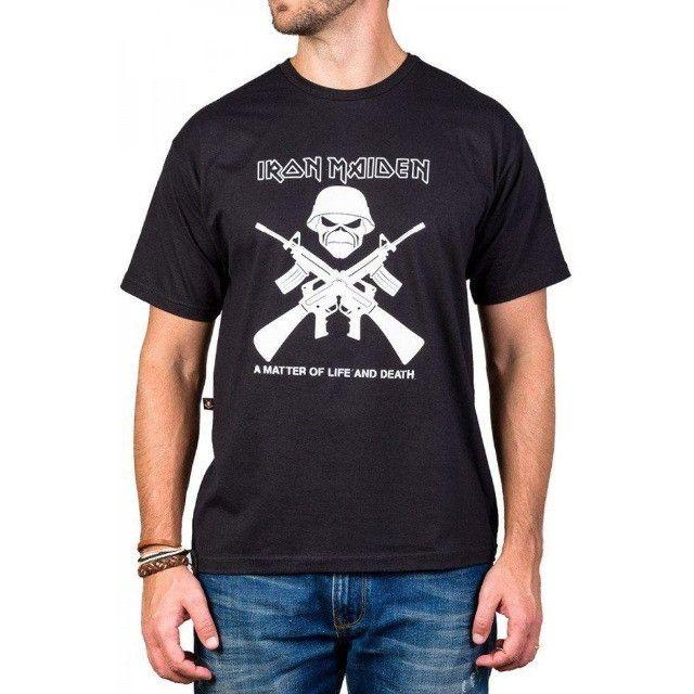 Camisa iron maiden camiseta iron maiden