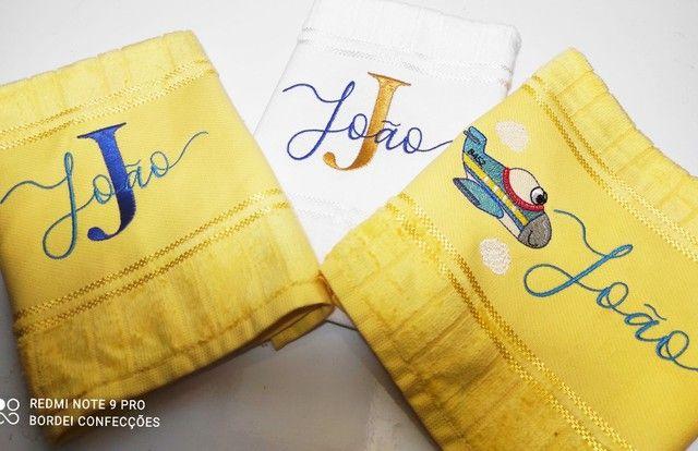 Kit toalha personalizada bordada - Foto 2