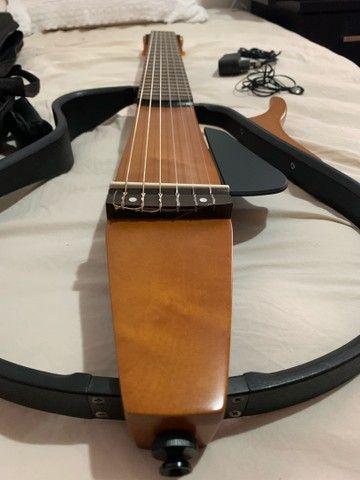Violão Yamaha aberto elétrico silent SLG200NW Nylon - Foto 4