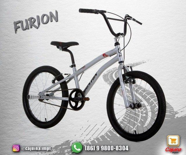 Bicicleta Infantil Aro 20 Houston Furion - Azul T17sd9sd21