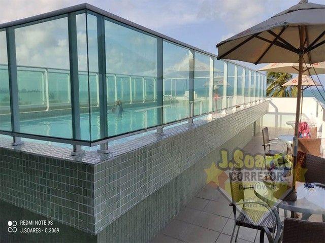 Cabo Branco,  Flat Beira mar, 33m², R$ 1.800, Aluguel, João Pessoa, Paraíba - Foto 7