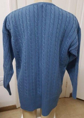 Blusão unissex azul G - Foto 4