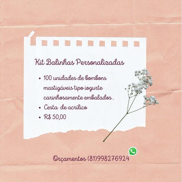 Kit Balas Personalizadas R$50,00 - Foto 3