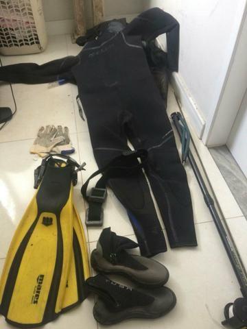 Equipamento de mergulho completo P Apneia e pesca