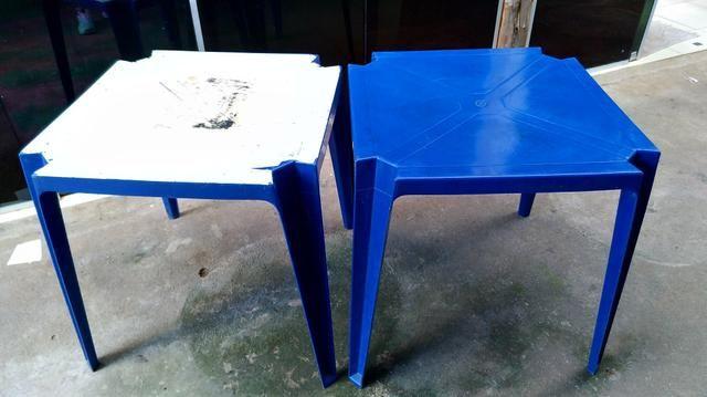 Mesas de plásticos Azul