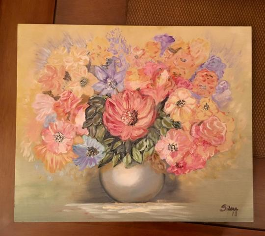 Pintura à óleo La Joie des Fleurs