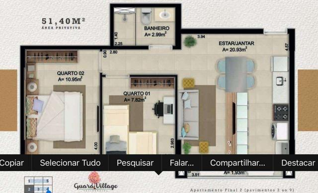 Lançamento apartamento 2 quartos guara II - Foto 4