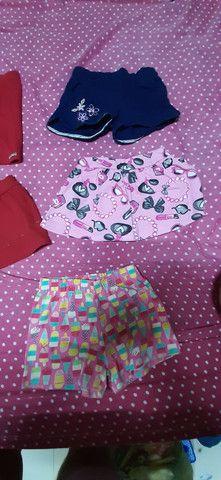 Lote de roupa infantil feminina shorts