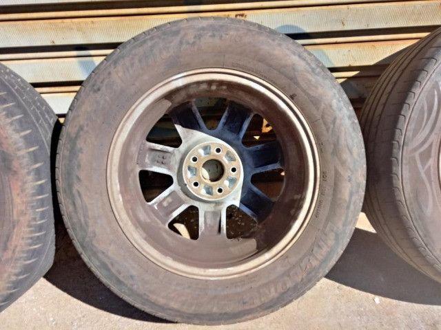 Jogo Roda Pneu Aro 17 Honda Crv 2011 - Foto 18