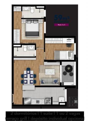 Apartamento em Picanço, com 2 quartos, sendo 1 suíte e área útil de 61 m² - Foto 6