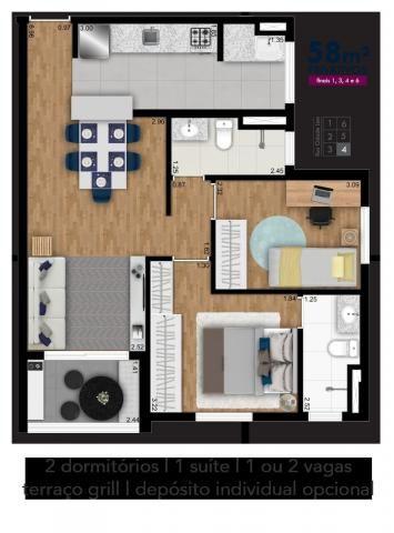 Apartamento em Picanço, com 2 quartos, sendo 1 suíte e área útil de 61 m² - Foto 5