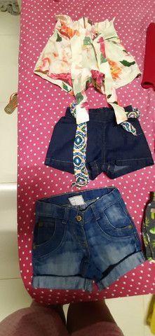 Lote de roupa infantil feminina shorts  - Foto 2