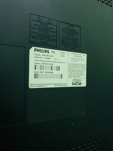 Tv led smart Philips 43 - defeito na tela - Foto 5