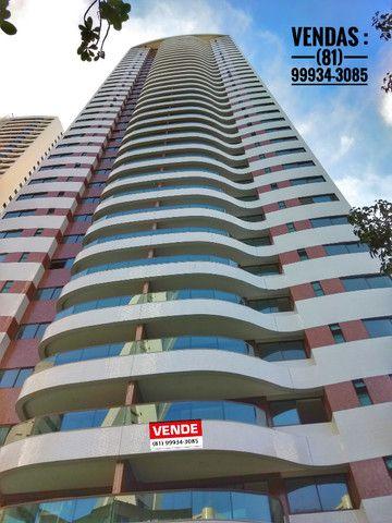 Apartamento em boa viagem 4 quartos 2 vagas de garagem , 185m² - padrão moura dubeux - Foto 4