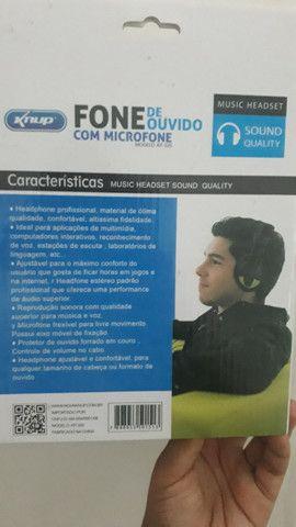 Fone e microfone de ouvido - Foto 4