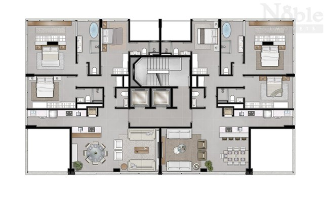 Apartamento alto padrão na Silva Jardim - Foto 13