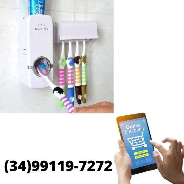 Dispenser Colgate Automático + Suporte Escova de Dente